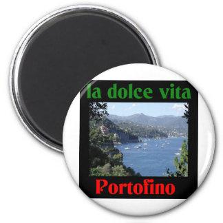 Portofino Italien Runder Magnet 5,7 Cm