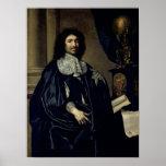 Portrait de Jean-Baptiste Colbert de Torcy 1666 Posters
