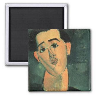 Portrait de Juan Gris (1887-1927) 1915 (l'huile pe Magnets Pour Réfrigérateur