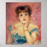 Portrait de l'actrice Jeanne Samary, 1877 Posters
