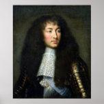 Portrait de Louis XIV Affiche