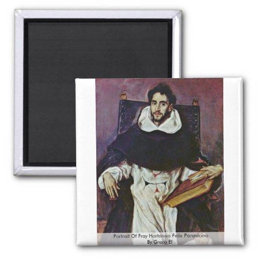 Portrait d'effilochure Hortensio Felix Paravicino Aimants Pour Réfrigérateur