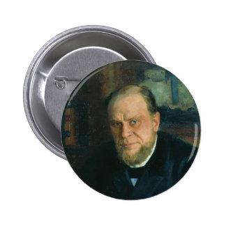 Portrait d'Ilya Repin- d'Anatoly Fyodorovichm Koni Badge