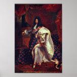 Portrait du Roi français Louis Xiv par Rigaud Hy Poster