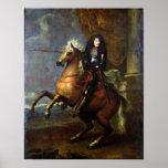 Portrait équestre de Louis XIV c.1668 Posters
