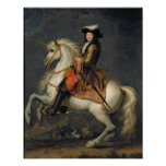 Portrait équestre de Louis XIV Posters
