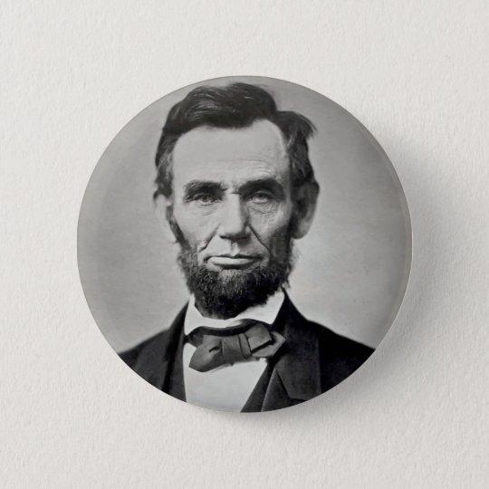 Porträt Abraham Lincolns Gettysburg Runder Button 5,1 Cm