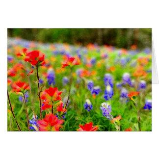 Porträt der Frühlings-Wildblume-Karten Karte