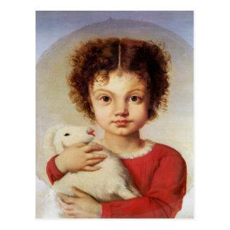 Porträt der Tochter des Künstlers, Lina Postkarte