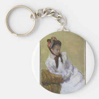 Porträt des Künstlers - Mary Cassatt Schlüsselanhänger