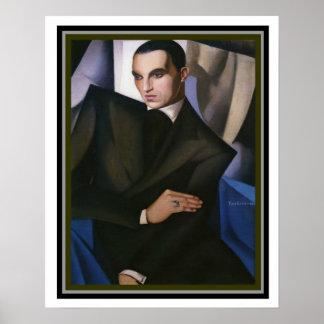 Porträt des Marquises Sommi, durch Tamara de Poster