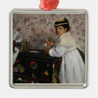 Porträt Edgar Degass | von Fräulein Hortense Silbernes Ornament
