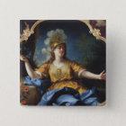 Porträt einer Frau als Minerva, 1730 Quadratischer Button 5,1 Cm