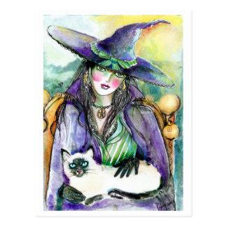 Porträt einer Hexe POSTKARTE
