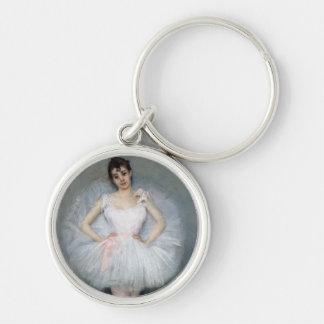 Porträt einer jungen Ballerina Schlüsselanhänger
