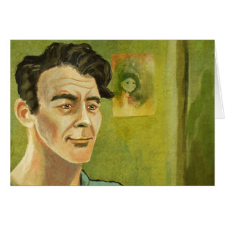 Porträt eines jungen Mannes Karte