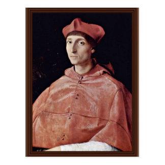 Porträt eines Kardinals durch Raffael (beste Postkarte
