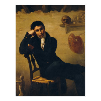 Porträt eines Künstlers in seinem Studio Postkarte