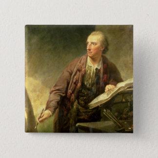 Porträt eines Künstlers, traditionsgemäß geglaubt Quadratischer Button 5,1 Cm