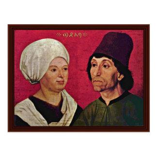 Porträt eines verheirateten Paares durch Schüchlin Postkarten