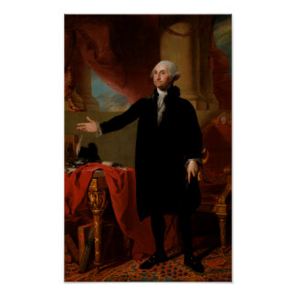 Porträt George Washingtons Lansdowne Poster