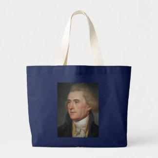 Porträt-Malerei von Thomas Jefferson Jumbo Stoffbeutel