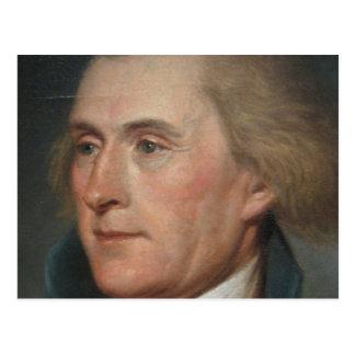 Porträt-Malerei von Thomas Jefferson Postkarte