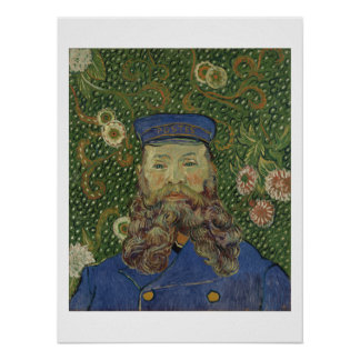Porträt Van Gogh   des Briefträgers Joseph Roulin Poster