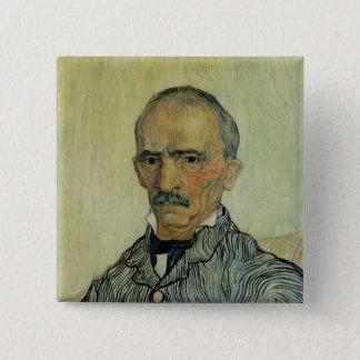Porträt Vincent van Goghs   des Betriebsleiters Quadratischer Button 5,1 Cm