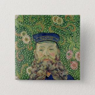 Porträt Vincent van Goghs   des Briefträgers Quadratischer Button 5,1 Cm