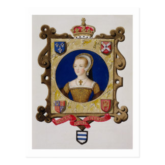 Porträt von (1512-48) 6. Königin Catherine Parrs Postkarte