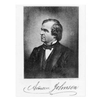 Porträt von Andrew Johnson Postkarte