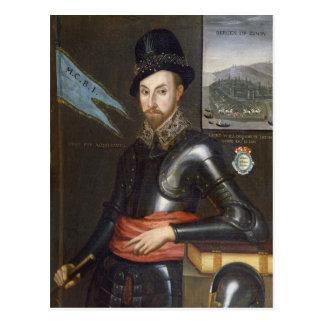 Porträt von ausländischer Bertie Postkarte