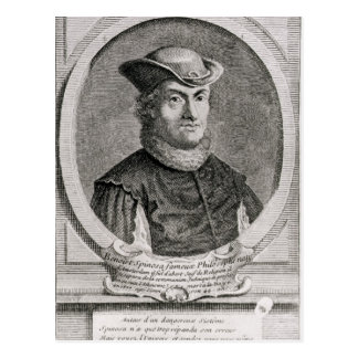 Porträt von Baruch oder von Benedict Spinoza Postkarte