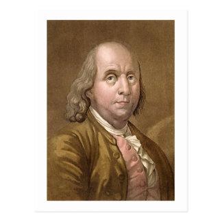 Porträt von Benjamin Franklin (1706-90), von 'Le Postkarte