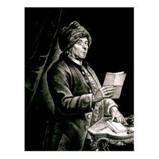 Porträt von Benjamin Franklin, 1777 Postkarte