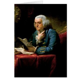 Porträt von Benjamin Franklin Karte