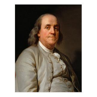 Porträt von Benjamin Franklin Postkarte