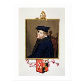 Porträt von Bischof Edmund Bonner (c.1500-69) von Postkarte