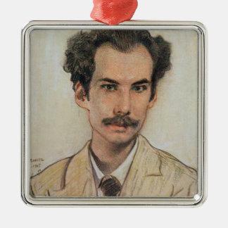 Porträt von Boris Nikolayevich Bugaev (1880-1934) Quadratisches Silberfarbenes Ornament