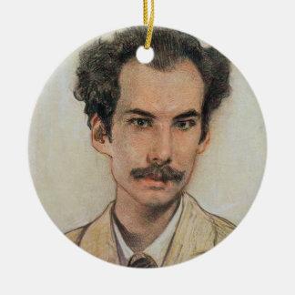Porträt von Boris Nikolayevich Bugaev (1880-1934) Rundes Keramik Ornament