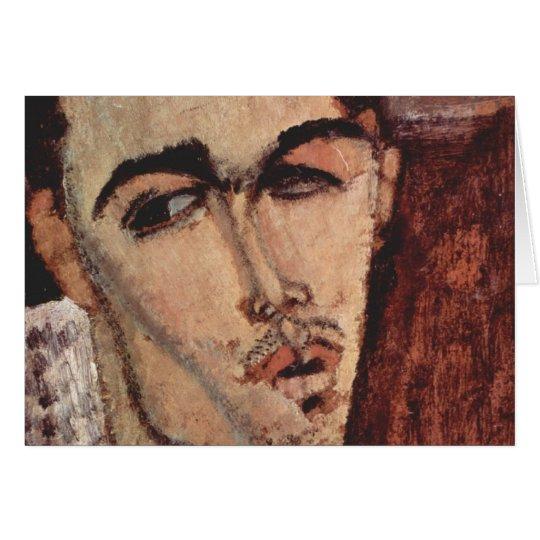Porträt von Celso Lagar - Amedeo Modigliani Grußkarte