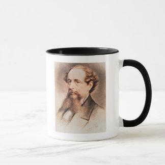Porträt von Charles Dickens, 1869 Tasse