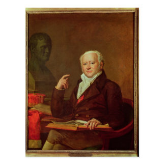 Porträt von DES Marets Jeans Nicolas Corvisart Postkarte