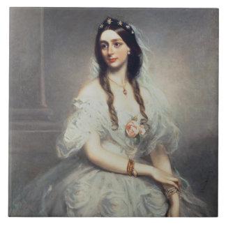 Porträt von Frau C.W.Stoughton (d.1907), Drei-Quar Fliese