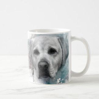 Porträt von gelben Labrador retriever Kaffeetasse