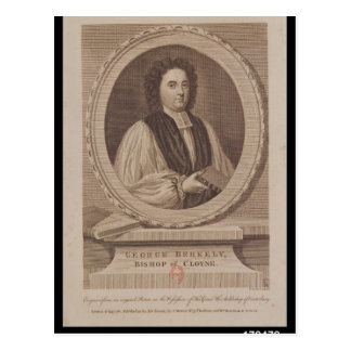 Porträt von George Berkeley-Bischof Postkarte
