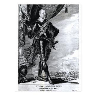 Porträt von Gustavus Adolphus das große Postkarte