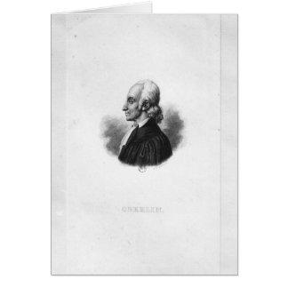 Porträt von Jean Frederic Oberlin Grußkarte