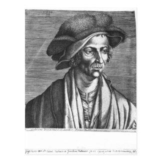 Porträt von Joachim Patinir, 1521 Postkarte